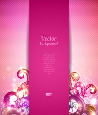 Glamour vector background with vintage design elements. Brochure