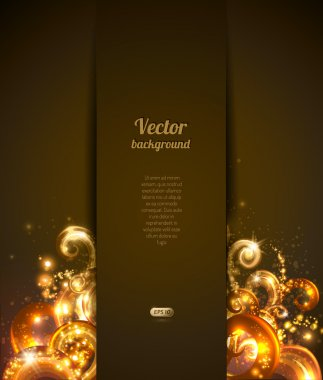 Abstract background with vector design elements. Brochure cover
