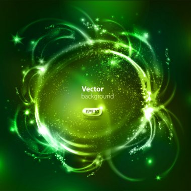 Vector glossy bubbles. Abstract background