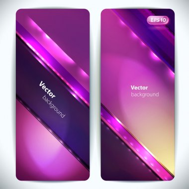 Set of colorful abstract vector banners.