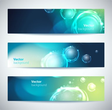Set of abstract vector banners or headers.