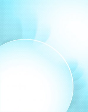 Stylish blue vector background with round frame.