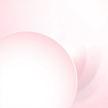 Stylish pink background with part of round frame.