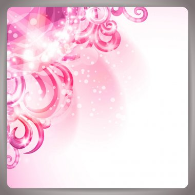 Abstract background with cute pink swirls.