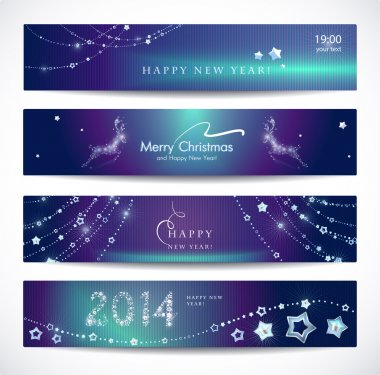 Christmas, New Year banners.