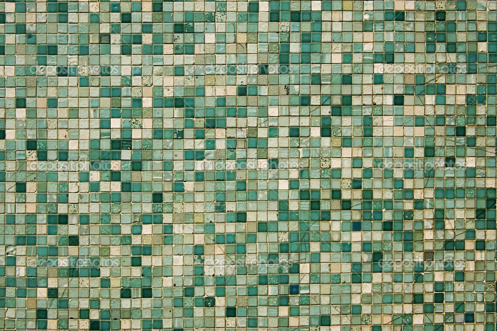 Groene Mozaiek Tegels : Kleine groene mozaïek tegels kleine groene mozaïektegels u2014 stockfoto