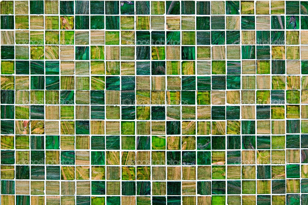 Abstract Architetural Background With Small Green Mosaic Tiles In A Variety Of Hues And Shades All The Palette Photo By Photology1971