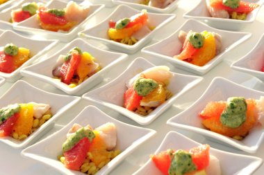 Appetizers for a banquet