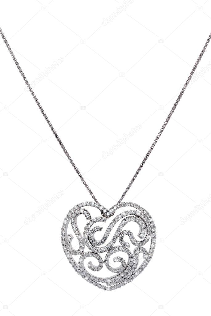 hänge silver hjärta