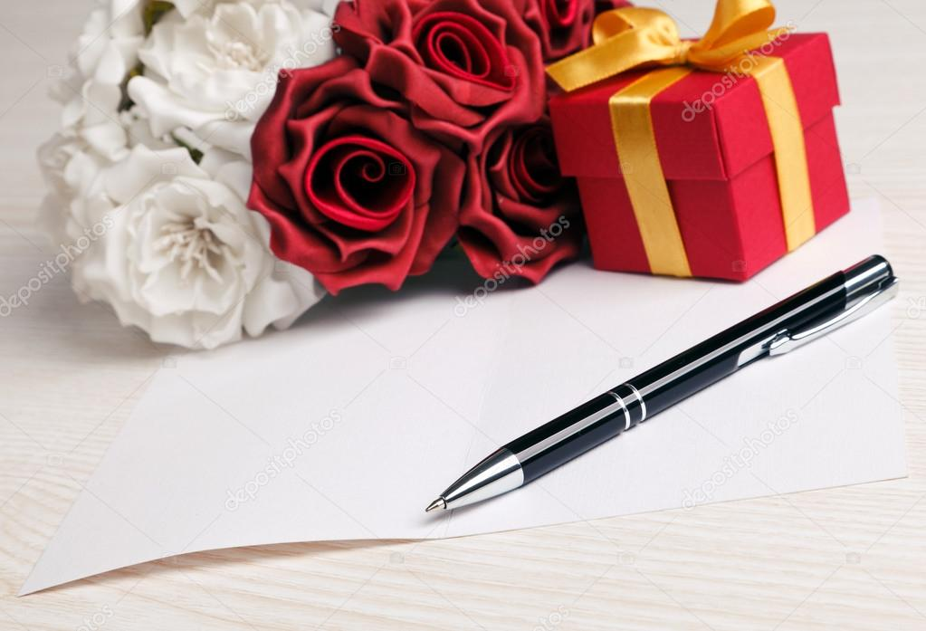 Открытка ручка с цветами