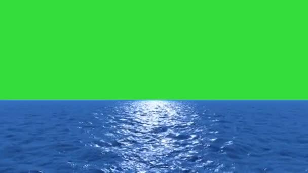 vody letět nízko s zelená obrazovka