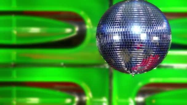 Disco zrcadlová koule zelené rychle 10388
