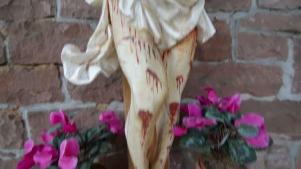 Nagyon véres félelmetes Jézus a kereszten