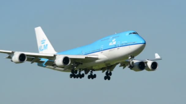 velké klm boeing 747 jumbo letadlo přistání 11034