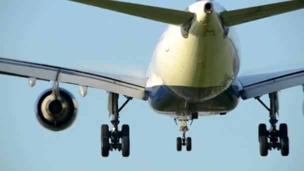 Airplane landing close backview 11046