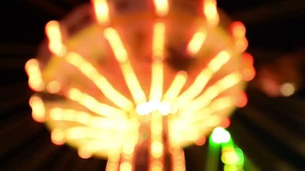 Jahrmarkt Oktoberfest klassische Karussell Lichter Hintergrund 11062