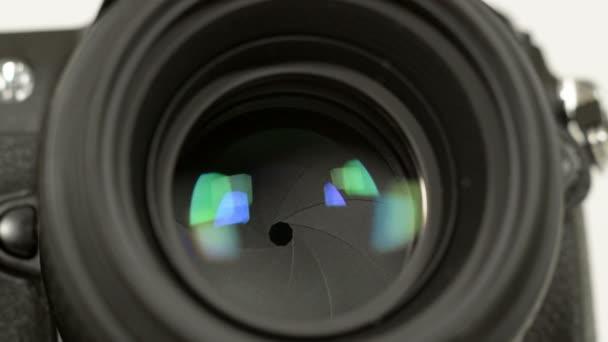 Photo camera iris long exposures loopable audio 11344