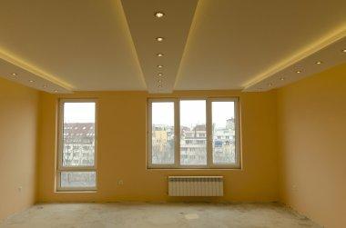 Look of renovating freshly painted room