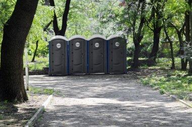 Portable public toilets