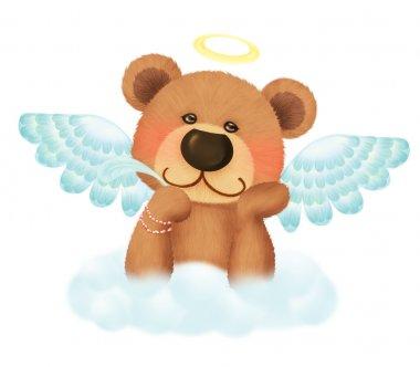 Cute bear angel