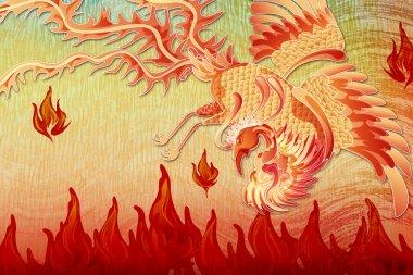 A beautiful phoenix in flight, representing rebirth