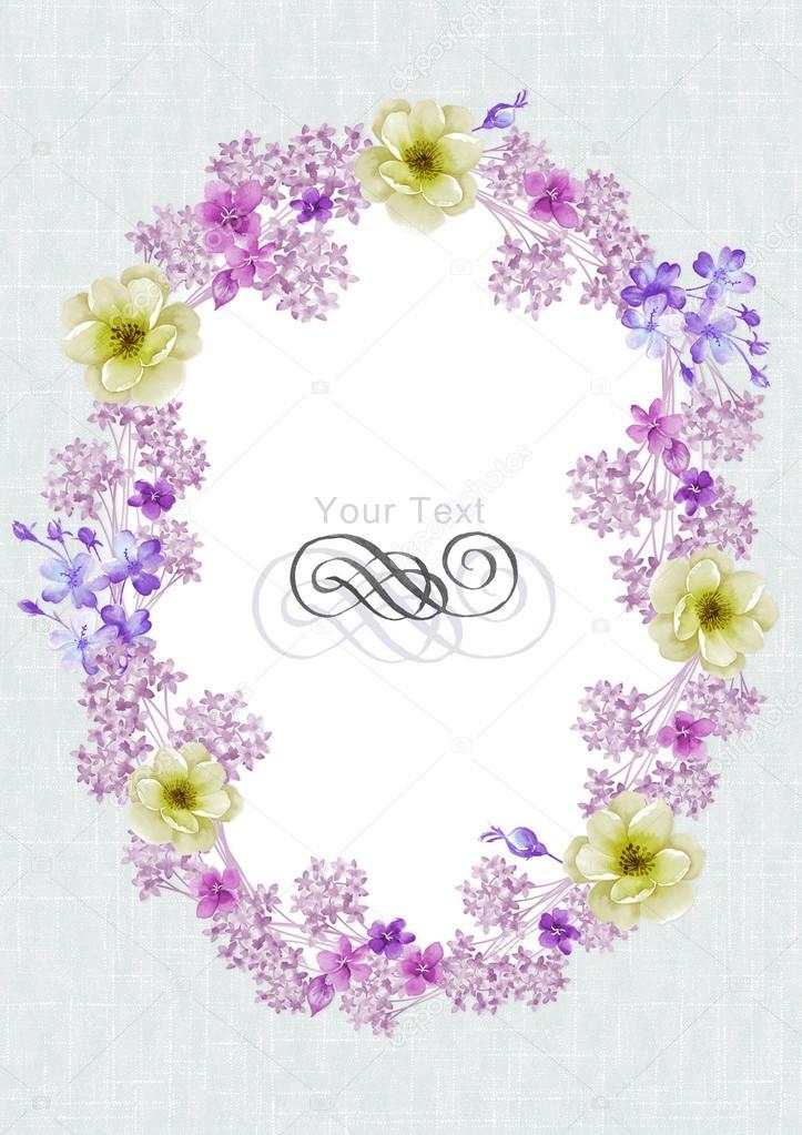 Watercolor floral illustration