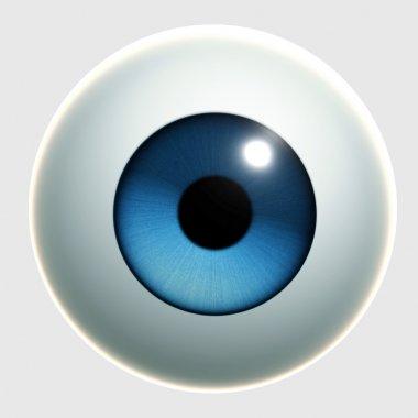 Blue cartoon eye stock vector