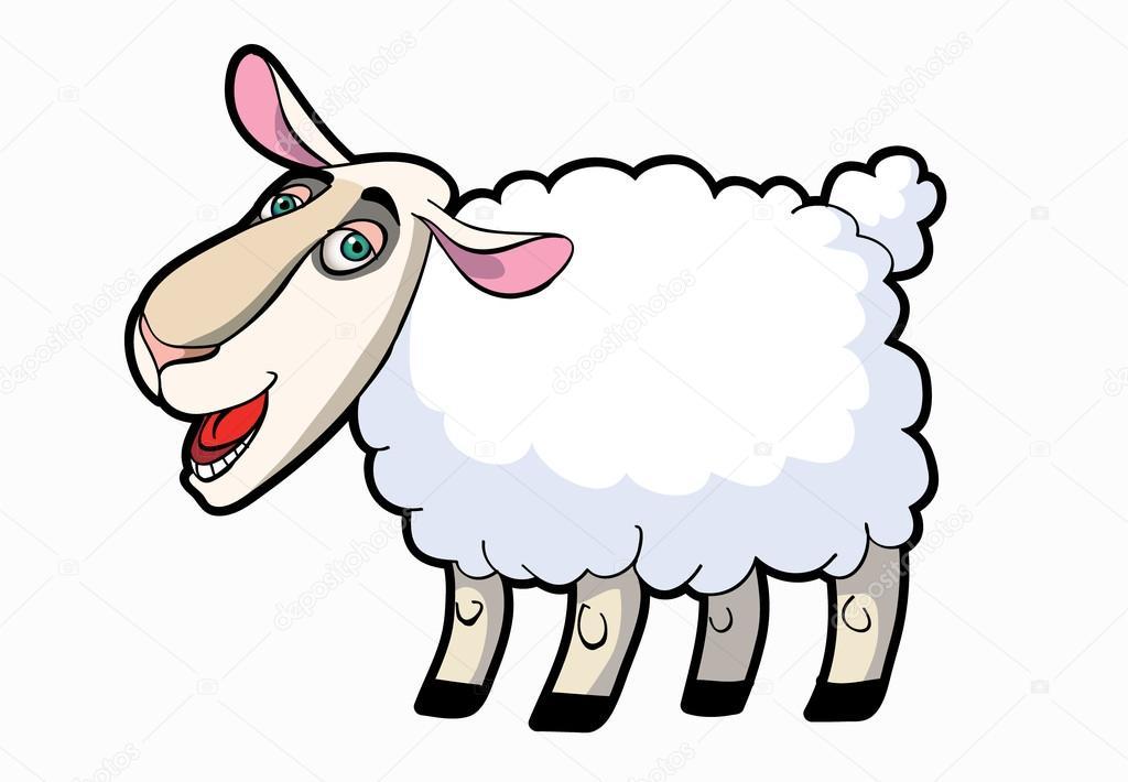 Cartone animato pecore — vettoriali stock bertoszig