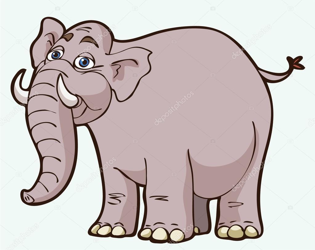 cartoon elephant u2014 stock vector bertoszig 13304771