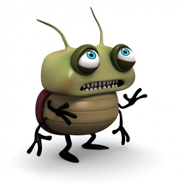 sad green bug
