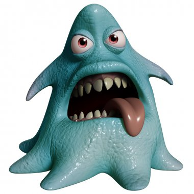 3d cartoon halloween monster