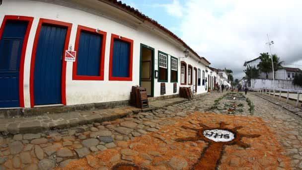 gobelín corpus christi v paraty, Brazílie