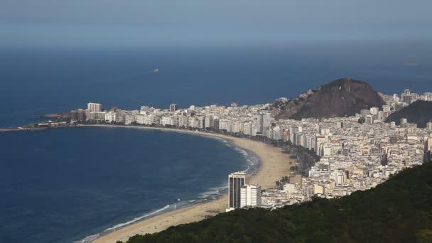 Letecký pohled na rio de janeiro Brazílie pláž copacabana