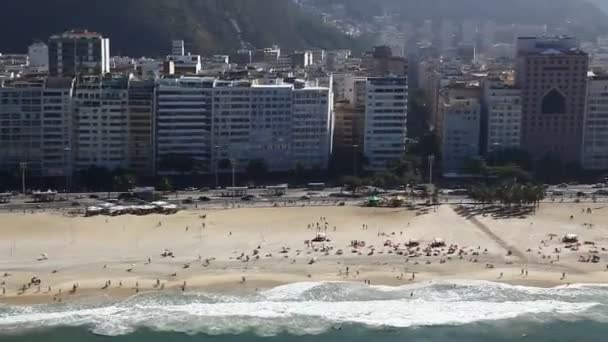 Copacabana beach letecké rio de janeiro Brazílie vrtulník letu