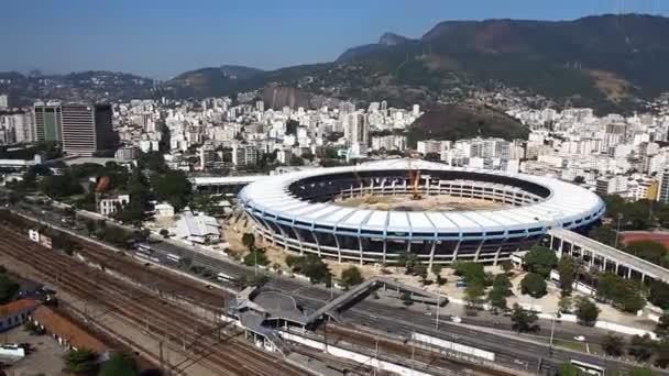 Stadion Maracana letecké rio de janeiro Brazílie vrtulník letu