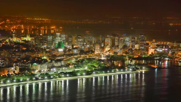 Rio de janeiro v centru obchodní oblast v noci, čas zanikla