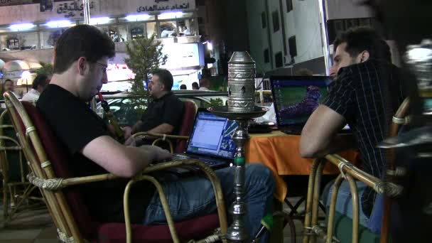 Internet cafe in Amman, Jordan