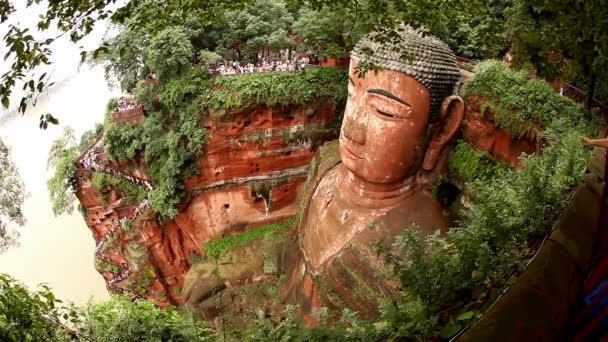 Giant Buddha, Leshan, China, time lapse