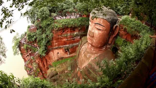 Giant Buddha, Leshan, China, Zeitraffer