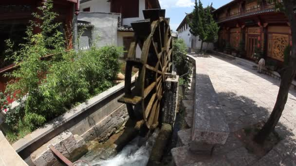 Water turbine in old town Lijiang in Yunnan province, China