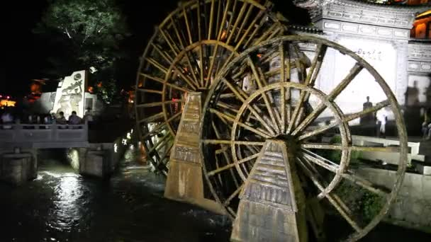 Water wheels in old town Lijiang in Yunnan province, China