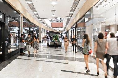 Interior of modern mall