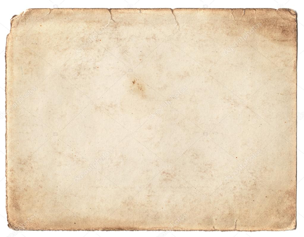 Blank Vintage Photo Paper Isolated On White Background U2014 Photo By Euroshot  Blank Paper Background