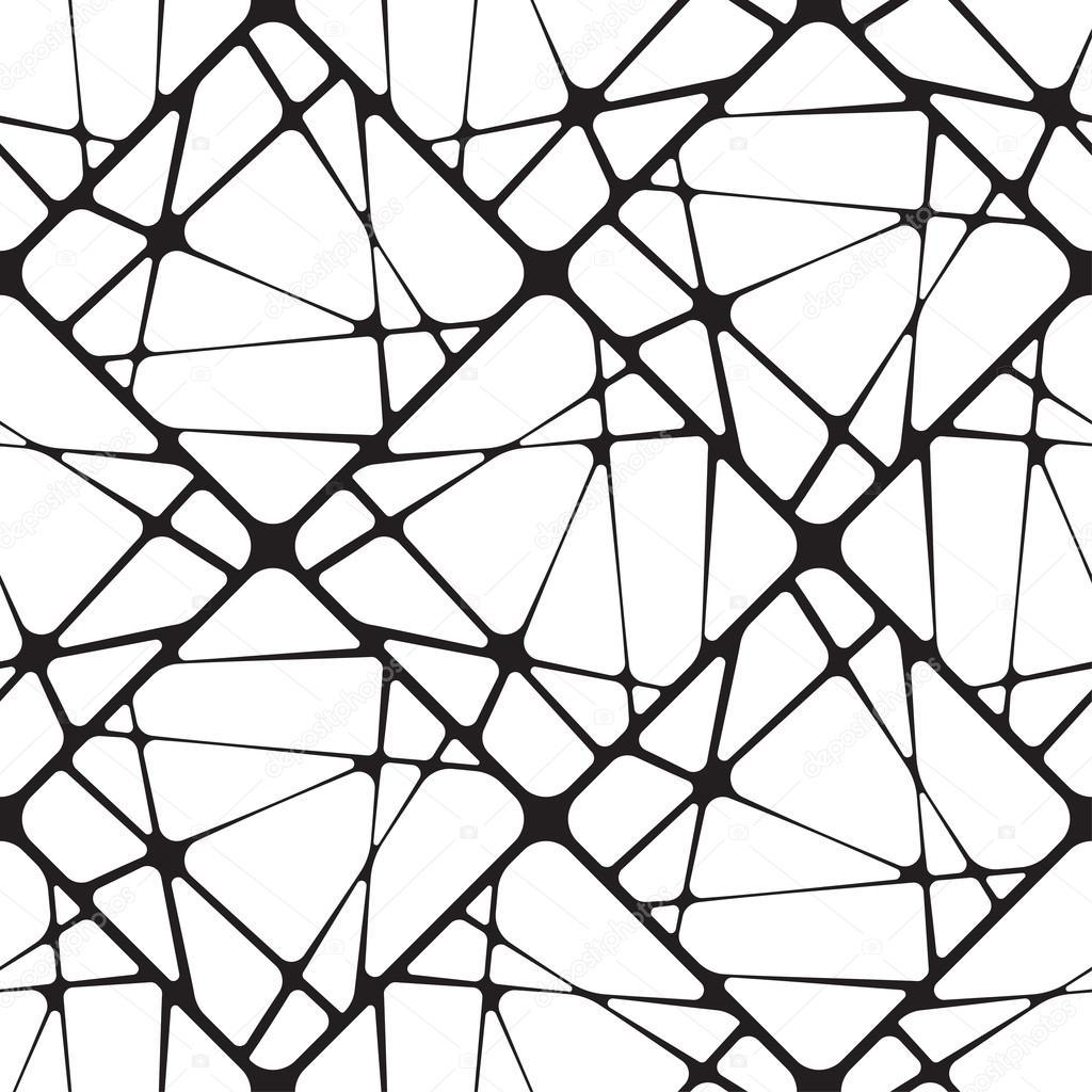 Черно белая графика абстракция 8