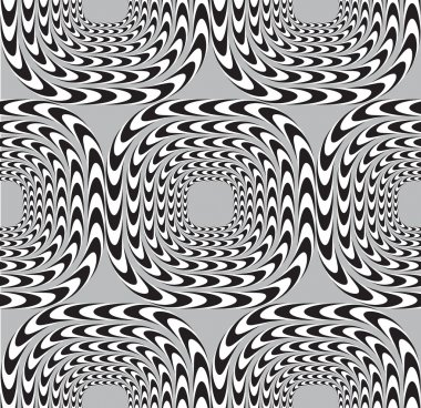 Optical Illusion, Vector Seamless Pattern Background, Squares Mo