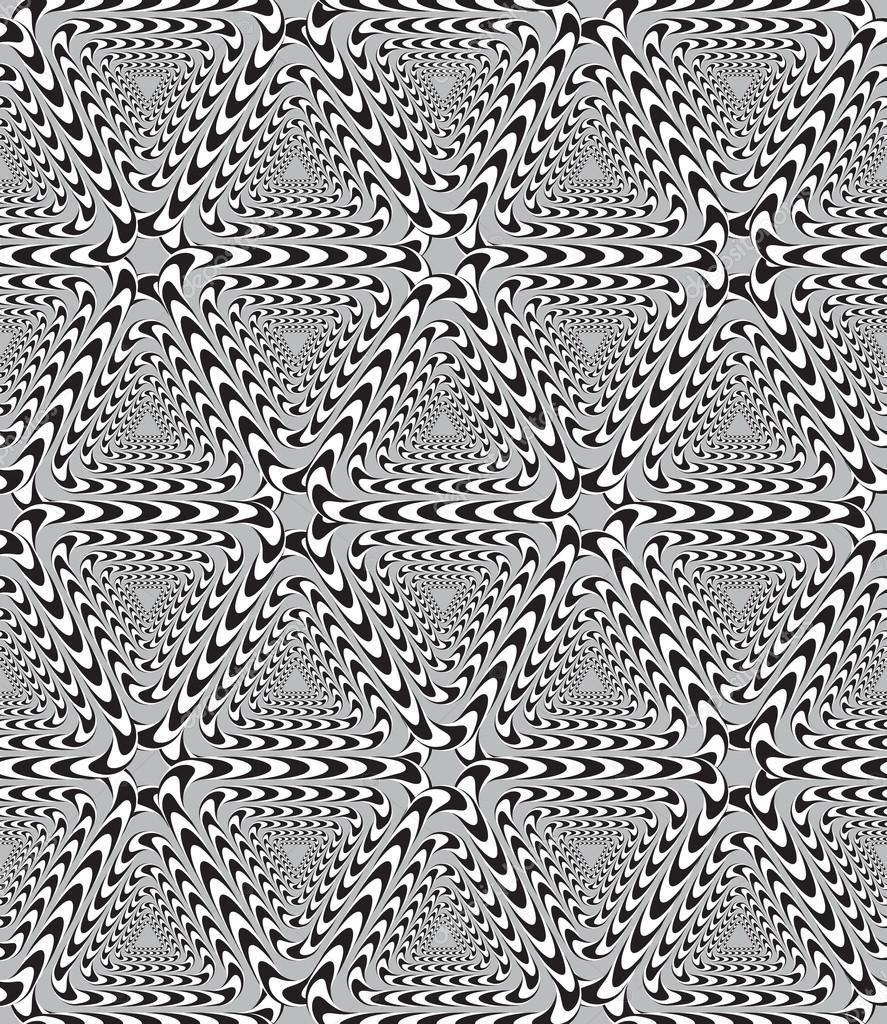 45363d1d4 三角形のシームレスなパターンのベクトルの背景、光学錯覚 — Vetor de ...