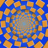 Rotating Blocks, Optical Illusion