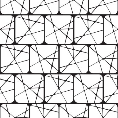 Black and White Abstract Geometric