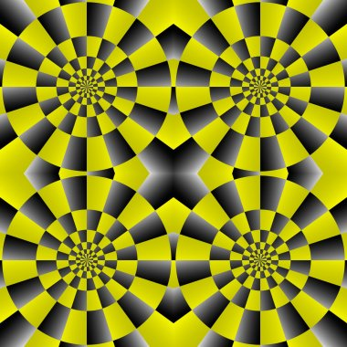 Optical Illusion Spin Cycle, Vector Pattern Abstract Background.