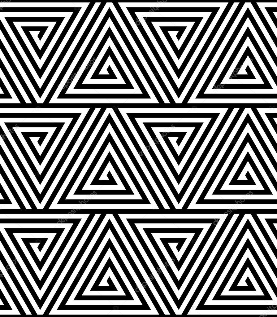 Annabella 67 Art Line Design : Triangles black and white abstract seamless geometric